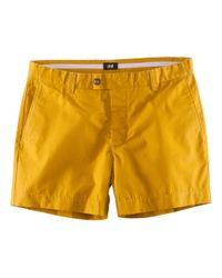 H&M - Yellow Shorts for Men - Lyst