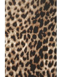 TOPSHOP Brown Sleeveless Animal Print Shirt