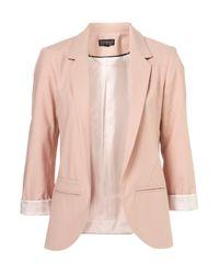 TOPSHOP Pink Structured Blazer