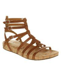 UGG Brown Mayla Gladiator Sandal Natural Leather