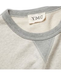 YMC | Gray Loopback Cottonjersey Sweatshirt for Men | Lyst