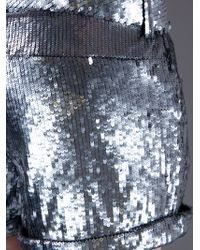 2nd Day Metallic Sequin Shorts