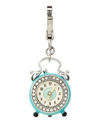 Juicy Couture | Blue Alarm Clock Charm | Lyst