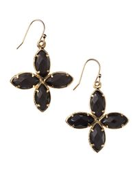 Kendra Scott - Black Fourstone Drop Earrings - Lyst