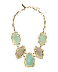 Kendra Scott | Green Multistone Bib Necklace | Lyst