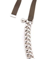 Marc By Marc Jacobs - Metallic Pretty Skinny Turnlock Necklace - Lyst