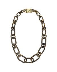 Michael Kors | Metallic Acetate Tortoise Link Necklace | Lyst