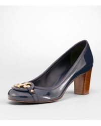 Tory Burch - Blue Patent Leather Aaden Pump - Lyst