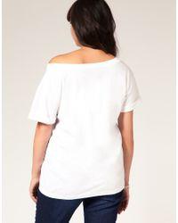 ASOS Collection - Black Asos Curve Exclusive Off Shoulder T-shirt - Lyst