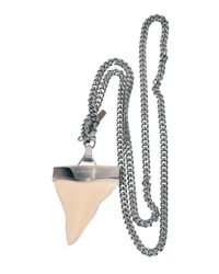 Givenchy | Metallic Sharks Tooth Necklace | Lyst