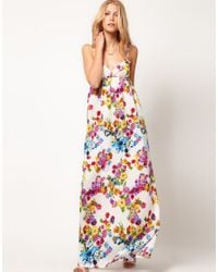 Mango | Multicolor Mango Floral Maxi Dress | Lyst