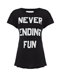 Wildfox Black Never Ending Fun Tshirt