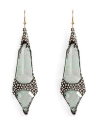 Alexis Bittar - Metallic Imitation Aquamarine Double Shield Earrings - Lyst
