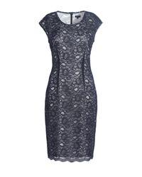 Jaeger Blue Lace Overlay Shift Dress