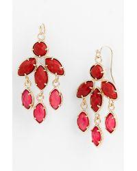 Kendra Scott | Metallic Tierney Chandelier Earrings | Lyst