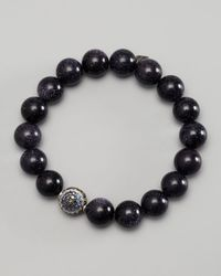 Sydney Evan Black Diamond Ball Beaded Bracelet