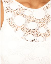 TFNC London | White Tfnc Dress Lace Peplum with Open Back | Lyst