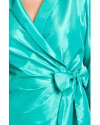 Alex Evenings | Blue Wrap Front Organza Blouse | Lyst