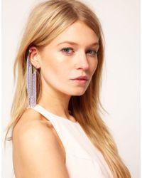 ASOS Metallic Multi Chain Ear Cuff