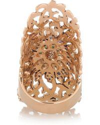 Ileana Makri Pink Shield 18-Karat Rose Gold Multi-Stone Ring