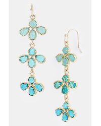 Kendra Scott | Blue Willa Long Drop Earrings | Lyst