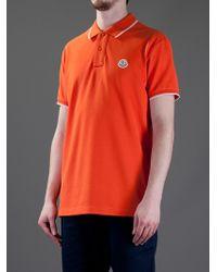 Moncler Orange Polo Shirt for men