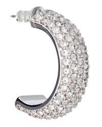 Swarovski - Metallic Silver Palace Drop Earrings - Lyst