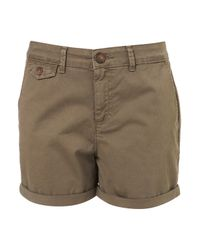 TOPSHOP | Green Khaki Chino Shorts | Lyst