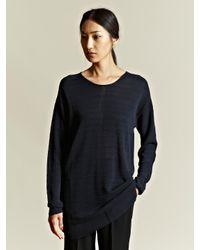 Damir Doma Blue Damir Doma Womens Oversized Knitted Jumper