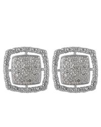 John Hardy | Metallic Naga Square Pave Diamond Earrings | Lyst