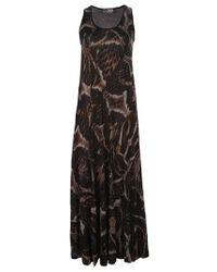 Lanvin Black Snake-print Maxi Dress