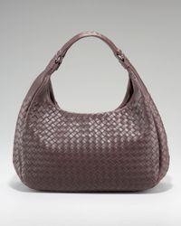Bottega Veneta | Brown Woven Leather Ball Bag | Lyst