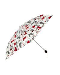 Lulu Guinness | Black London Print Tiny Umbrella | Lyst