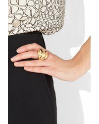 Oscar de la Renta   24karat Goldplated Ring   Lyst