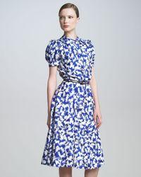 Carolina Herrera | Blue Gasparprint Shirtdress | Lyst