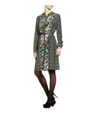 DKNY Green Harper Shirt Dress