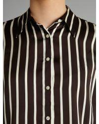 Lauren by Ralph Lauren Brown Jamir Stripe Shirt