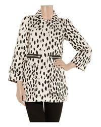 Sonia by Sonia Rykiel | Black Dalmatian-print Cotton-drill Coat | Lyst