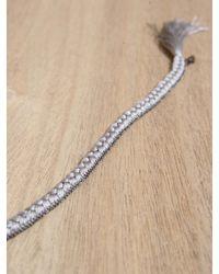Alyssa Norton - Gray Braided Bracelet - Lyst
