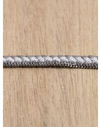 Alyssa Norton - Gray Braided Bracelet - Lyst