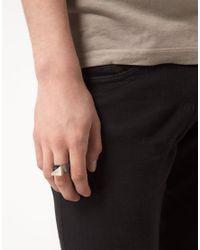 ASOS - Black Staples Ring for Men - Lyst