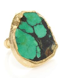 Dara Ettinger | Green Chelsea Turquoise Adjustable Ring | Lyst