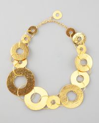 Herve Van Der Straeten - Metallic Gold Disc Necklace - Lyst