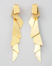 Herve Van Der Straeten | Metallic Gold Foldover Clip Earrings | Lyst