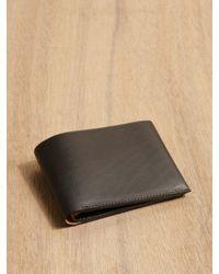 Isaac Reina Black Isaac Reina Une Feuille Wallet for men