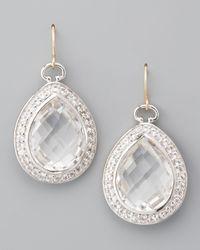 Monica Rich Kosann - Metallic Rock Crystal Teardrop Earrings - Lyst