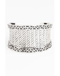 Lois Hill | Metallic Basket Weave Cuff | Lyst