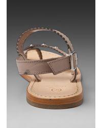 McQ Alexander McQueen | Beige Flat Sandal | Lyst