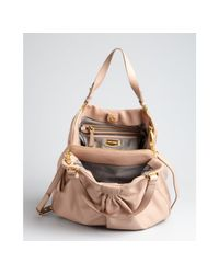Miu Miu - Cameo Brown Tucked Lambskin Convertible Bag - Lyst