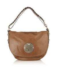 Mulberry | Brown Daria Satchel Oak | Lyst